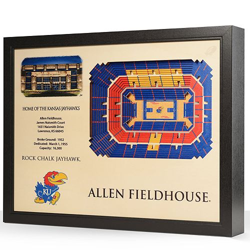 Kansas Jayhawks StadiumViews 3D Wall Art