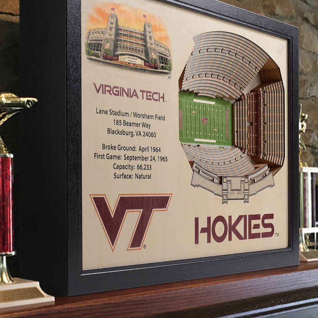 Virginia Tech Hokies StadiumViews 3D Wall Art