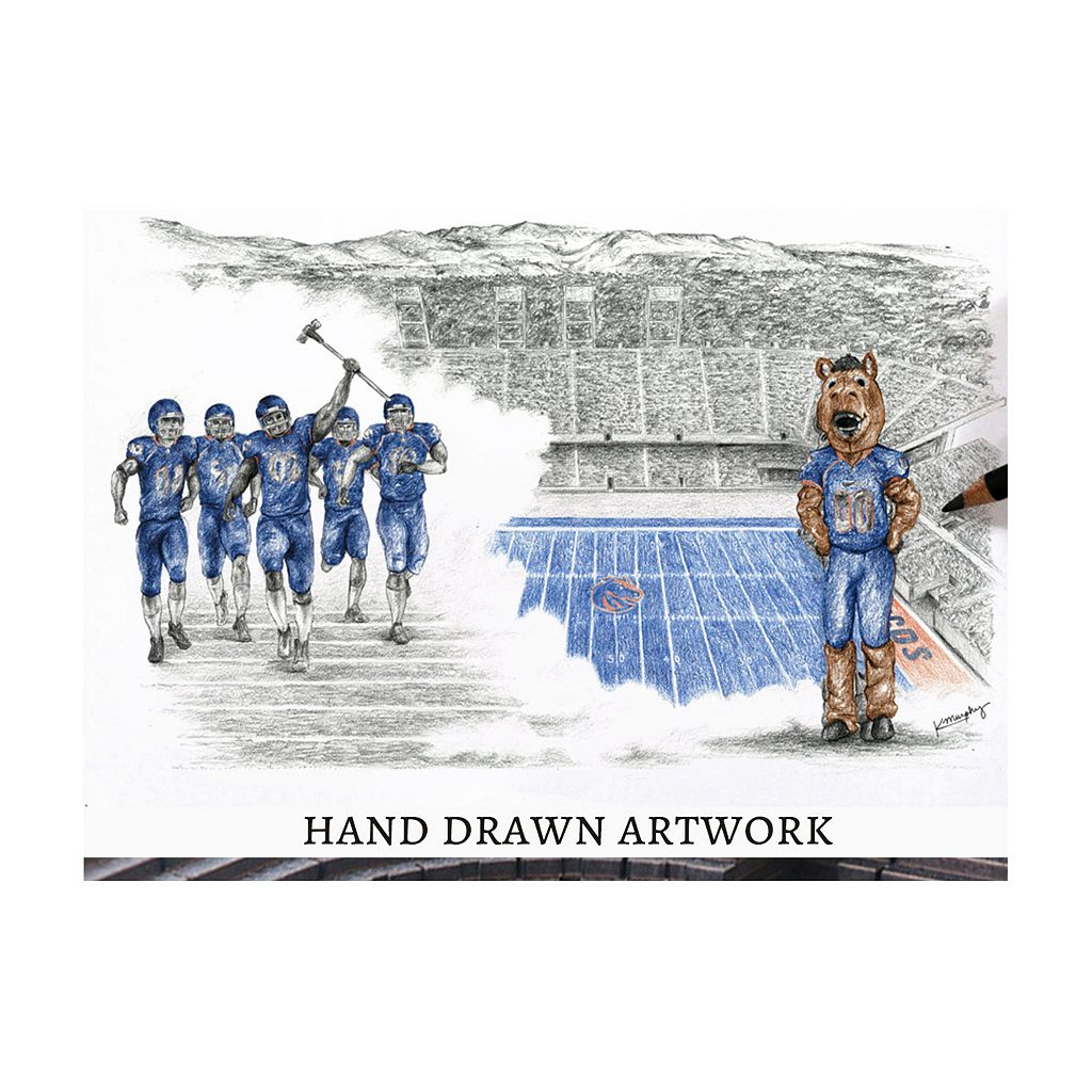 Boise State Broncos StadiumViews 3D Wall Art