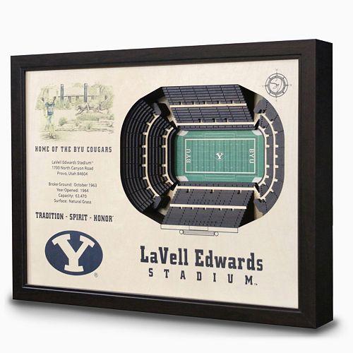 BYU Cougars StadiumViews 3D Wall Art