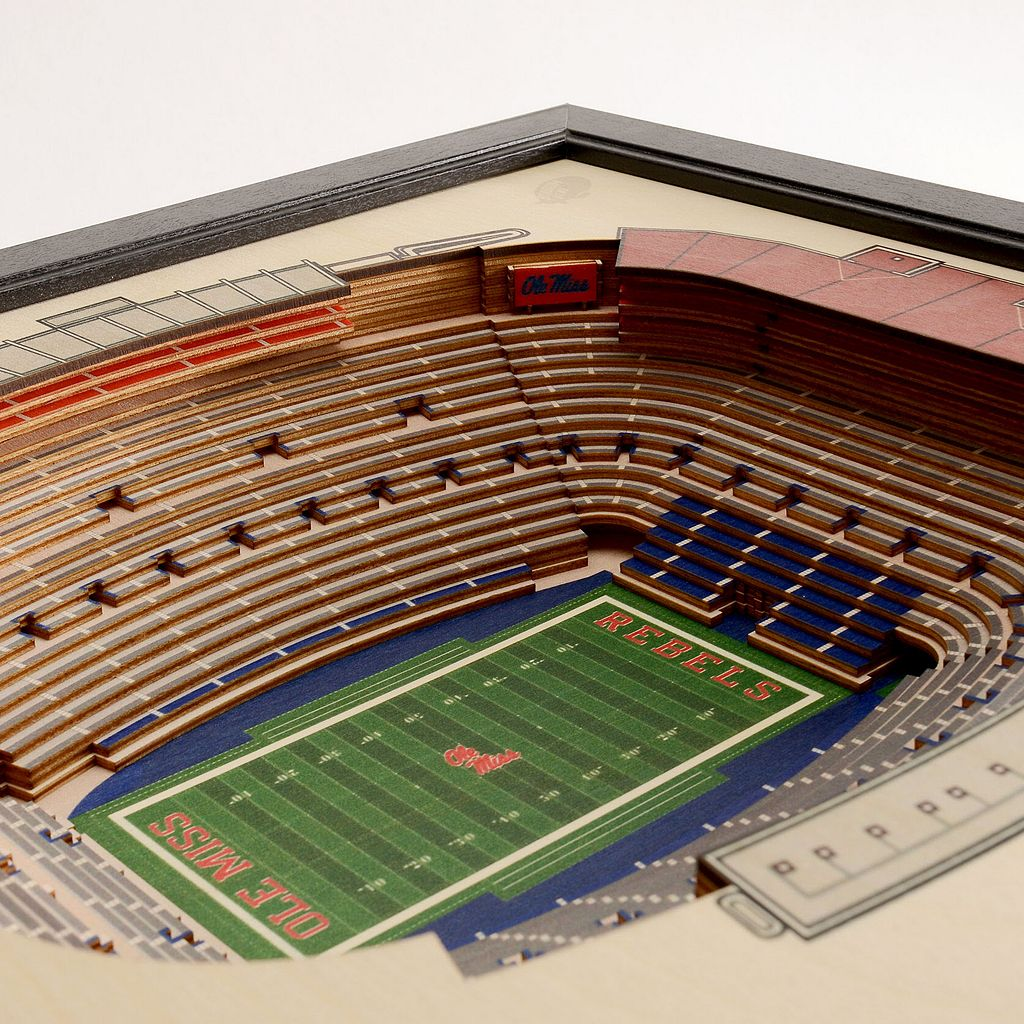 Ole Miss Rebels StadiumViews 3D Wall Art