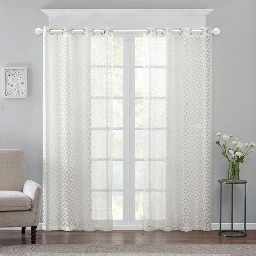 Madison Park Conway Burnout Sheer Window Curtain