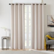 Madison Park 1-Panel Matera Basketweave Chenille Window Curtain