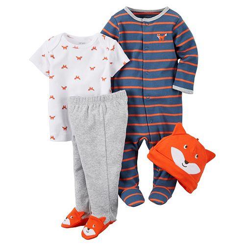 Baby Boy Carter's 4-pc. Fox Sleep & Play Set