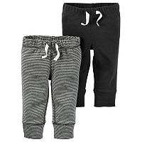 Baby Boy Carter's 2-pk. Solid & Striped Jogger Pants