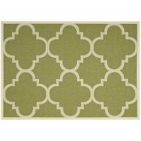 Safavieh Courtyard Tranquility Quatrefoil Indoor Outdoor Rug