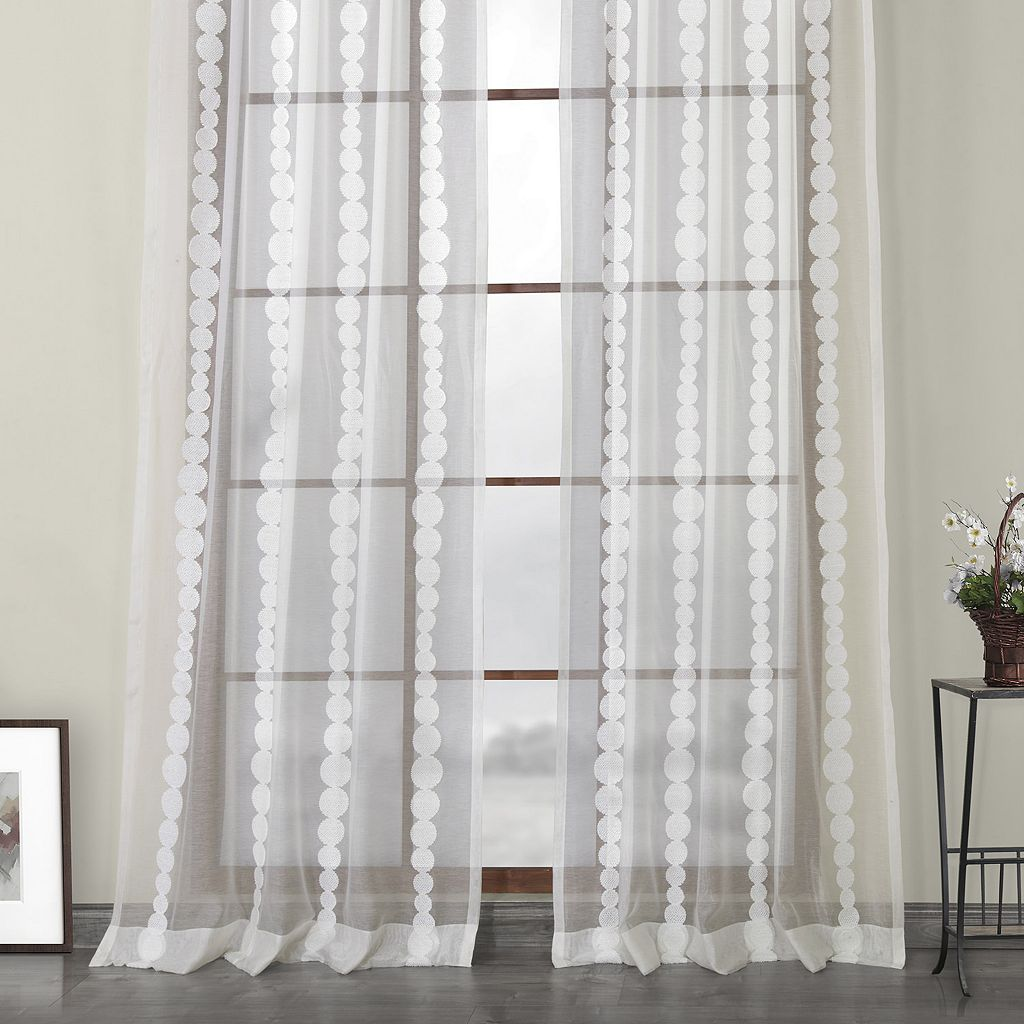 EFF Cleopatra Embroidered Sheer Window Curtain