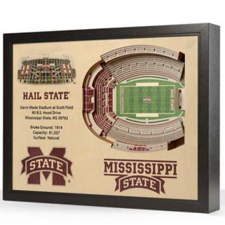Mississippi State Bulldogs StadiumViews 3D Wall Art
