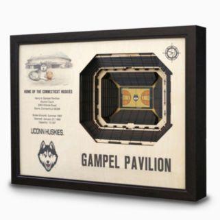 UConn Huskies StadiumViews 3D Wall Art