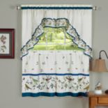Love Birds 3-piece Swag Tier Kitchen Window Curtain Set
