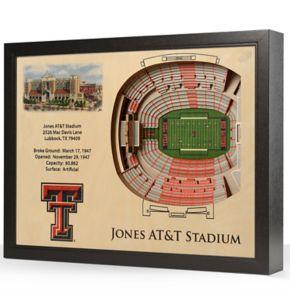 Texas Tech Red Raiders StadiumViews 3D Wall Art