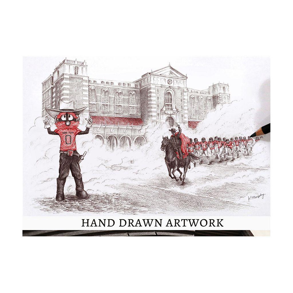Texas Tech Red Raiders StadiumViews 3D Wall Art