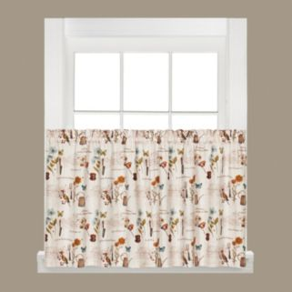 Saturday Knight, Ltd.  2-pack Le Jardin Tier Curtains