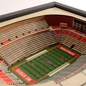 North Carolina State Wolfpack StadiumViews 3D Wall Art