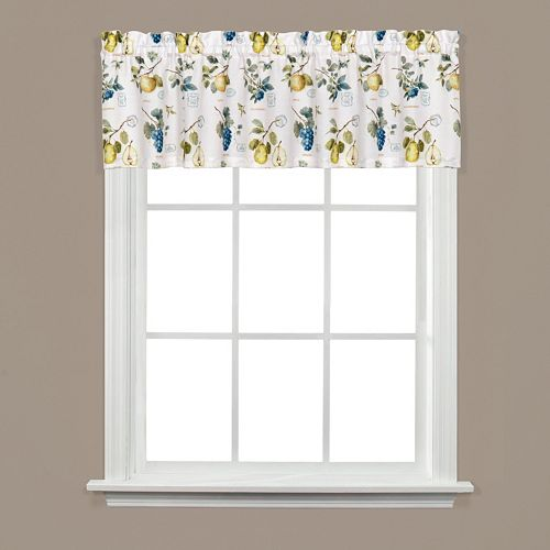 Saturday Knight, Ltd.  Botanical Fruit Window Valance - 58'' x 13''