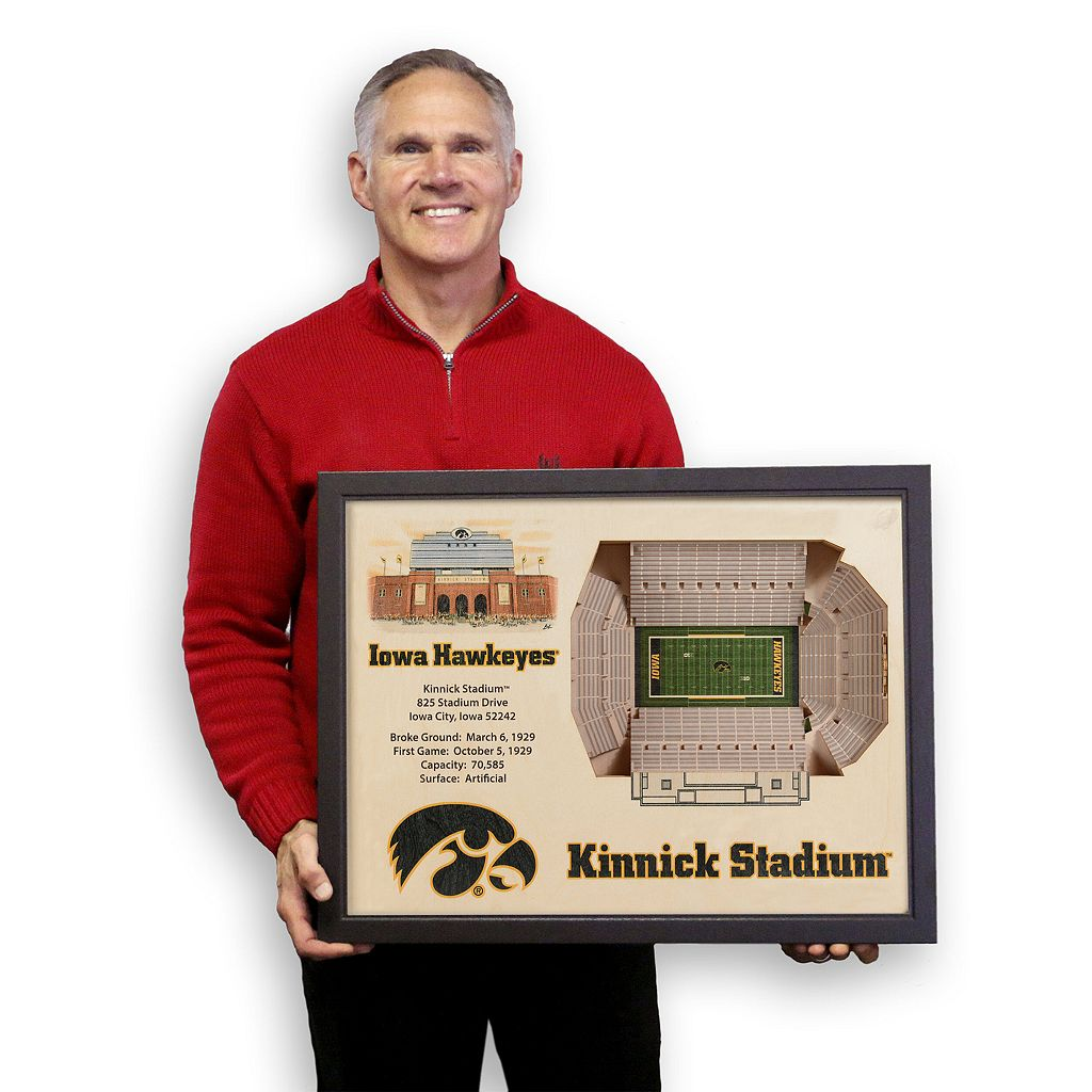 Iowa Hawkeyes StadiumViews 3D Wall Art