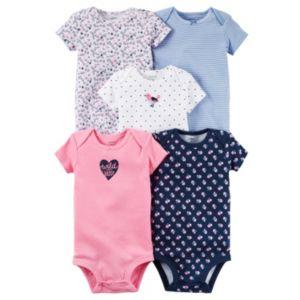 Baby Girl Carter's 5-pk. Pattern Bodysuits
