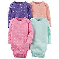 Baby Girl Carter's 4-pk. Polka-Dot Bodysuits