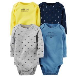 Baby Boy Carter's 4-pk. Print & Graphic Bodysuits