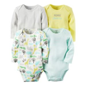 Baby Carter's 4-pk. Giraffe & Striped Bodysuits