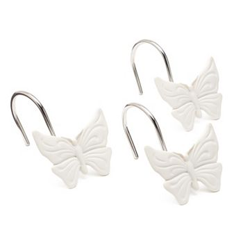 LC Lauren Conrad 12 Pack Butterfly Shower Curtain Hooks