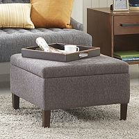 Madison Park Raymond Square Storage Ottoman