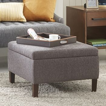 Madison Park Raymond Square Storage Ottoman + $10 Kohls Cash