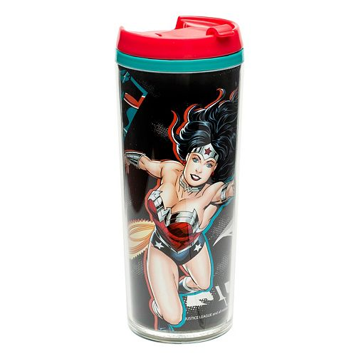 Dc Comics Wonder Woman Travel Mug By Zak Deigns