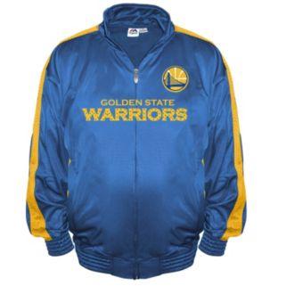 Big & Tall Majestic Golden State Warriors Tricot Jacket
