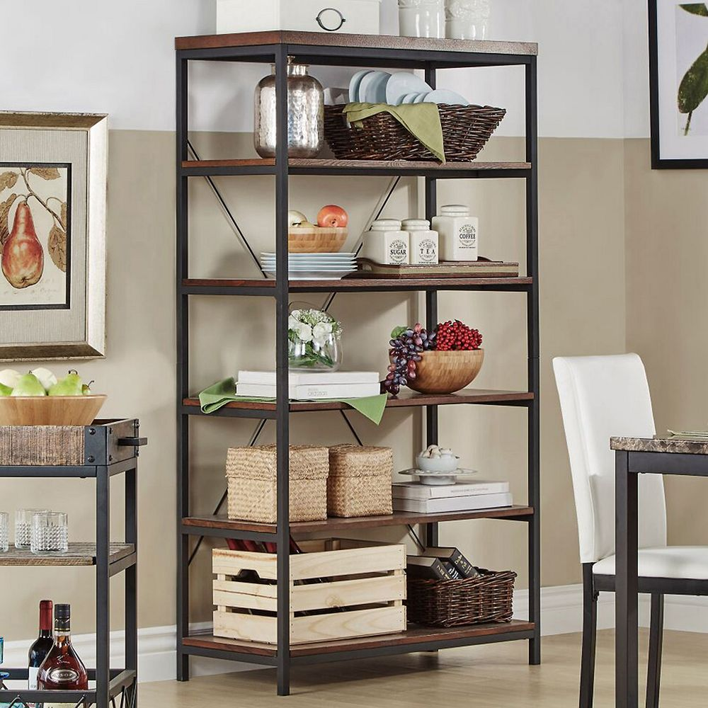 HomeVance Sonya Wide Metal Frame Bookshelf
