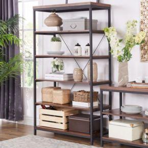 HomeVance Sonya Wide Metal Frame Bookshelf