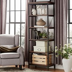 HomeVance Sonya Slim Metal Frame Bookshelf