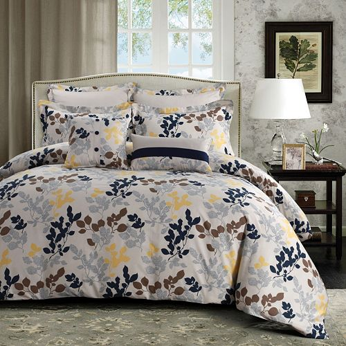 Barcelona 5-piece 300 Thread Count Egyptian Cotton Percale Printed Duvet Cover Set
