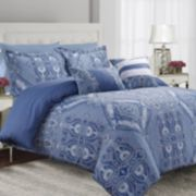 Atlantis 5-piece 300 Thread Count Egyptian Cotton Percale Printed Duvet Cover Set