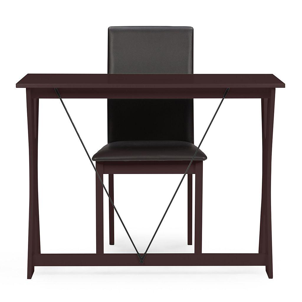 Baxton Studio Cary Writing Desk & Chair Set