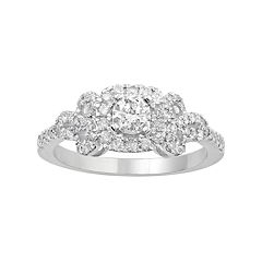 Simply Vera Vera Wang 14k White Gold 3/4 Carat T.W. Diamond Bow Ring