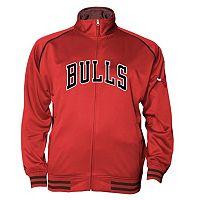 Big & Tall Majestic Chicago Bulls Fleece Track Jacket