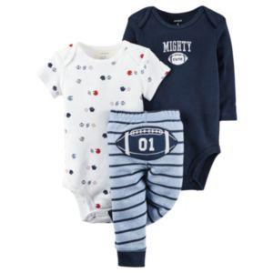 Baby Boy Carter's Football Bodysuit, Tee & Pants Set