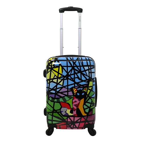 Chariot Glass 20-Inch Hardside Spinner Carry-On Luggage