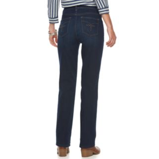 Petite Chaps Classic Fit Straight-Leg Jeans