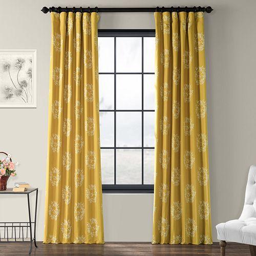 EFF 1-Panel Isles Lined Window Curtain