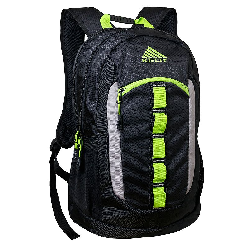 Kelty Stealth Laptop Backpack, Black Whether on the trail or trekking across campus, this Kelty backpack carries your essentials in style. Durable honeycomb ripstop construction 2 interior zip compartments for organizing your gear 5 convenient exterior compartments for quick access Padded laptop sleeve holds up to a 17-inch laptop Water-resistant bottom keeps contents dry Padded back and adjustable shoulder straps for comfortable carrying 19 H x 13 W x 7.5 D Weight: 1.3 lbs. Polyester Zipper closure Model Numbers Gray Aztec: 6805 Black: 6804 Size: One size. Gender: Unisex.