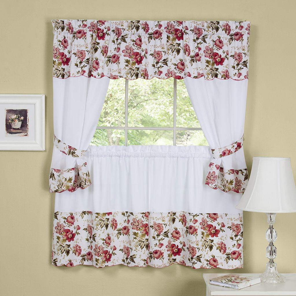 Wisteria 5-pc. Swagger Tier Cottage Kitchen Curtain Set