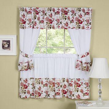 Wisteria 5-piece Swag Tier Cottage Kitchen Window Curtain Set