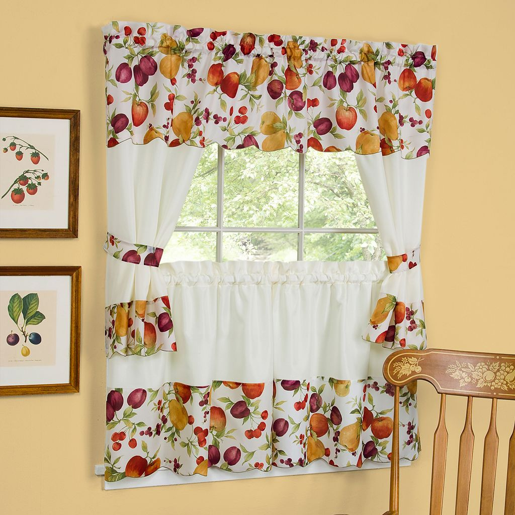Chesapeake 5-pc. Swagger Tier Cottage Kitchen Curtain Set - 24