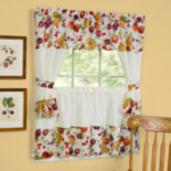 "Chesapeake 5-pc. Swagger Tier Cottage Kitchen Curtain Set - 24""L Tiers"