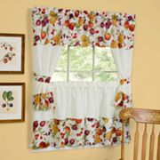 Chesapeake 5 pc Swag Tier Cottage Kitchen Window Curtain Set - 24'L Tiers