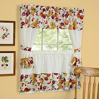 Chesapeake 5-piece Swag Tier Cottage Kitchen Window Curtain Set - 24