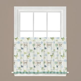 Saturday Knight, Ltd.  2-pack Garden Discovery Tier Curtains