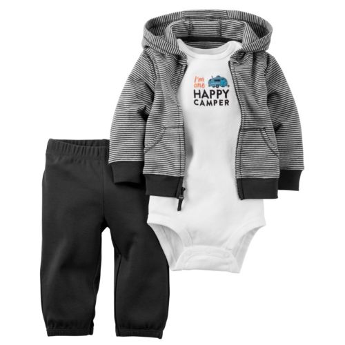 Baby Boy Carter's 3-pc. Striped Cardigan & Pants Set